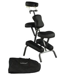 Premium Best Massage Chair Black 4 inch Portable Massage Chair Tattoo Spa Free Carry Case