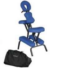 Premium BestMassage Blue 4 inch Portable Massage Chair Tattoo Spa Free Carry Case