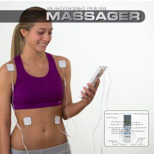 truMedic TENS Unit Electronic Pulse Massager treats muscle pain
