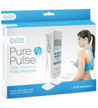 PurePulse Electronic masager with 6 auto modes with fully adjustable speed and intensity delivering high-frequency stimulation to relieve pain