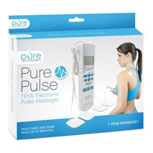 TENS unit, PurePulse Electronic massager with 6 auto modes with fully adjustable speed and intensity delivering high-frequency stimulation to relieve pain