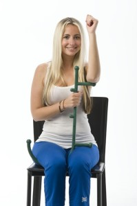 Underarm Massage with a Thera Cane Massager
